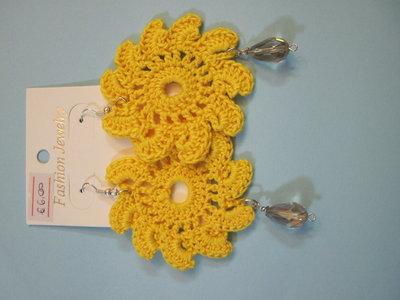 orecchini sole gialli