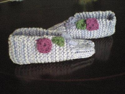 pantofole in lana lilla