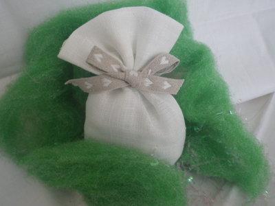 Bomboniera sacchetto in tessuto