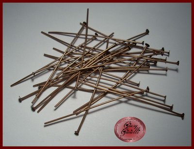 50x chiodini a T rame 50x0,7 mm.