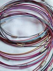5 girocollo rigido vari colori - chiusura a vite