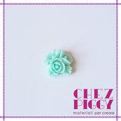 1 x cabochon floreale - AZZURRO