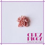 1 x cabochon floreale - ROSA ANTICO