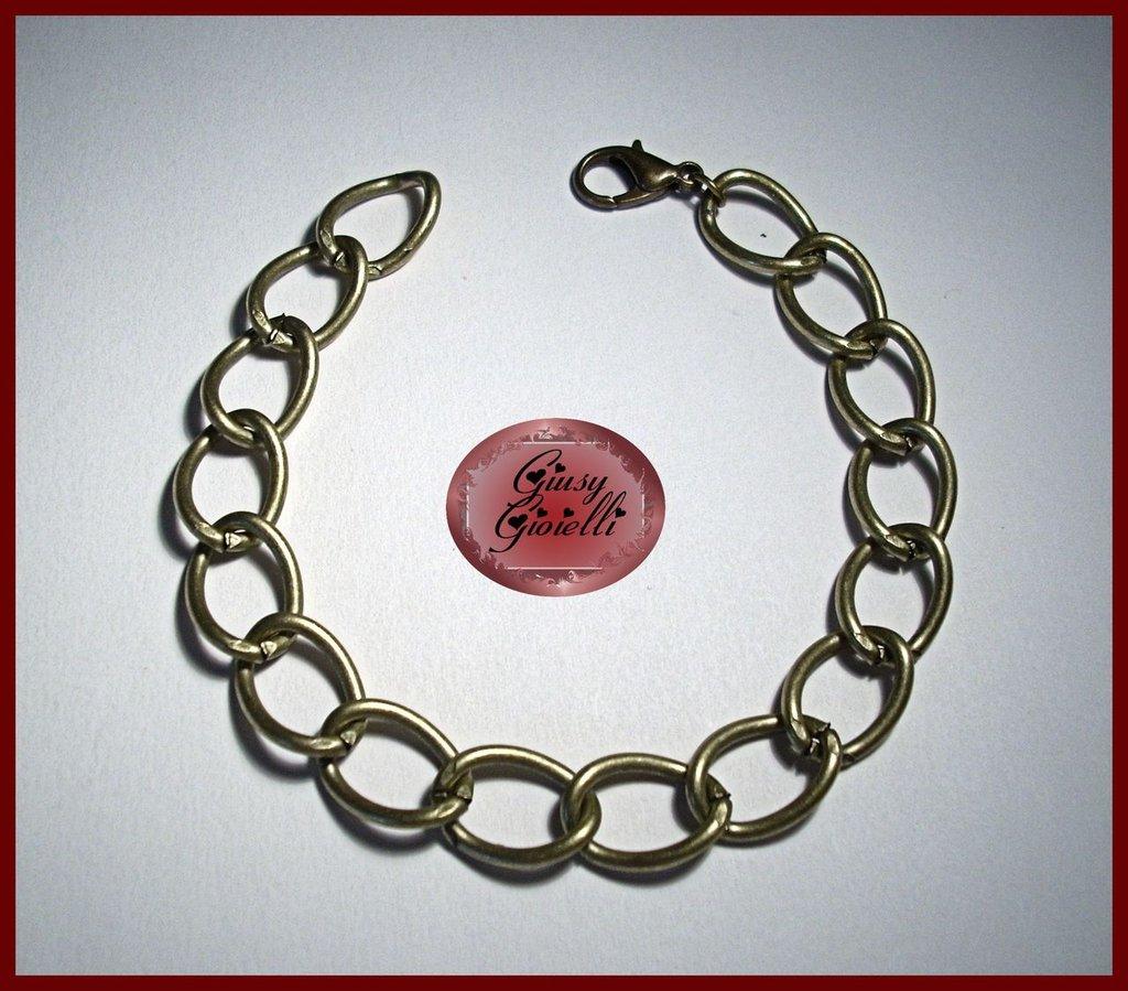 Base per bracciale color bronzo maglie grandi