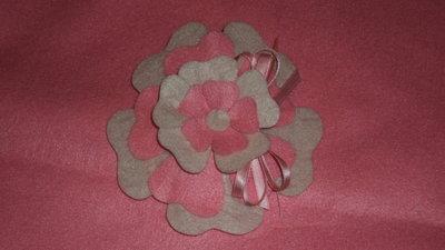 """sacchetti confetti segnaposto artigianali fai da te """"fiore rosa"""""""