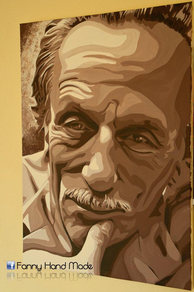 Dipinto - acrilico su tela - ritratto di Eduardo De Filippo