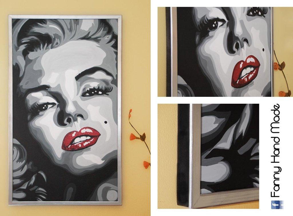 Dipinto - acrilico su tela - Ritratto di Marilyn Monroe - Per la c ...