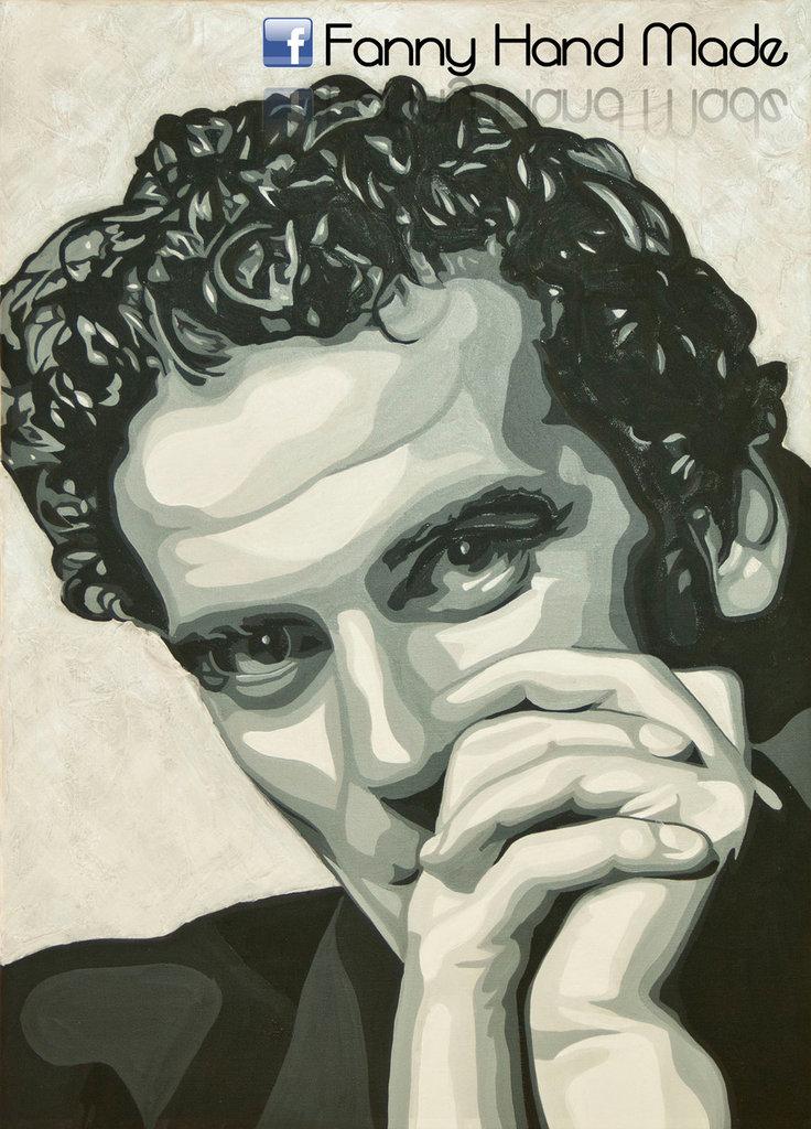 Dipinto - acrilico su tela - ritratto di Massimo Troisi