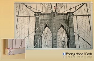 Ponte di Brooklyn - stampa su tela
