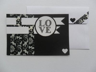 """Biglietto """"love"""" nero"""
