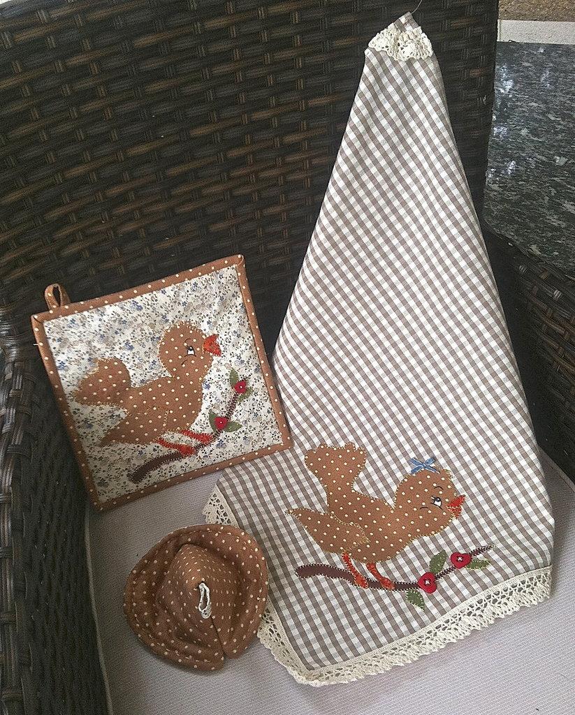 Asciughino e presine Uccellino