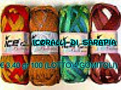 Filati sciarpa multicolore