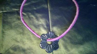 collana/girocollo seta,ceramica raku
