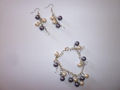bracciale e orecchini perle