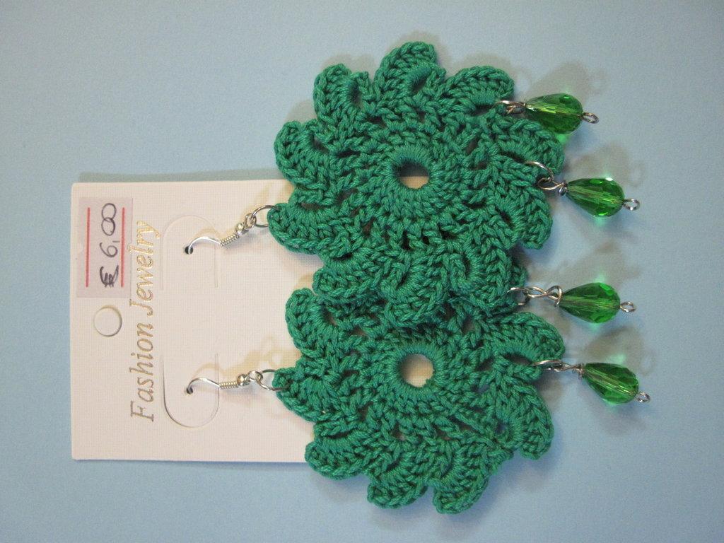 orecchini sole verdi