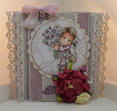 CARD Magnolia FOR YOU TILDA (OOAK)