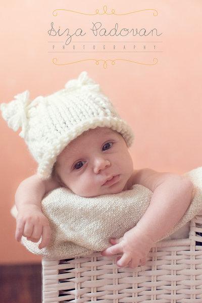 """cappellino neonato lana biologica """"orsetta"""""""
