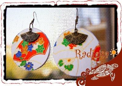 Orecchini Japan ventaglio bianchi