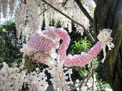 """cappellino neonato """"romantica magia"""" maglia a mano"""