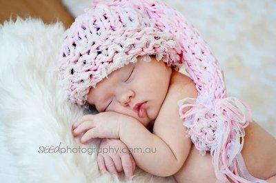 cappellino neonato prime foto maglia a mano