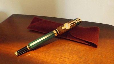 INSERZIONE PER FRANCESCO - penna stilografica in radica e simil giada -