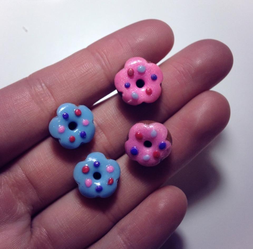 Orecchini Donuts in Fimo