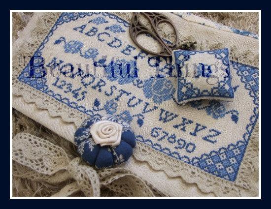 Blue rose sampler