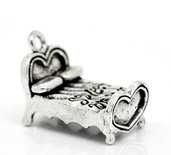 "Charm Ciondolo Letto ""Sweet Dreams  25mmx15mm"