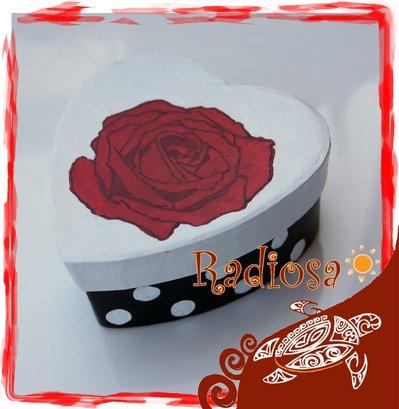 Cofanetto Rosa rossa