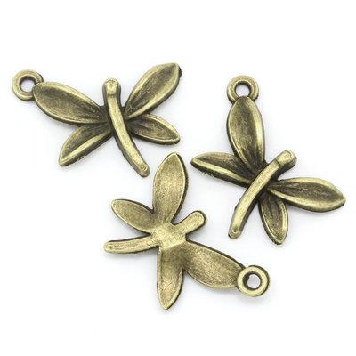 Ciondolo  Charms Libellula bronzo 22.5mm x 15.5mm tantissimi sconti per oggi