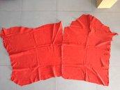 Taglio scampolo camoscio pelle rosso corset