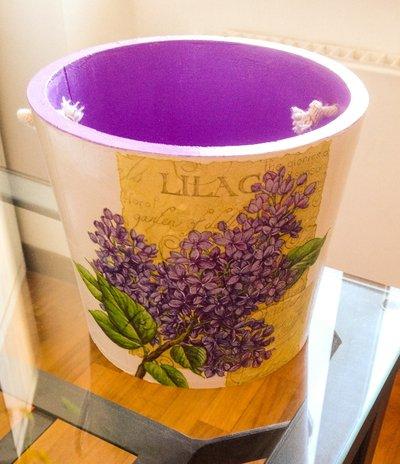 Vaso provenzale decorato a mano