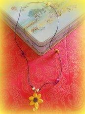 collana in fiori di fimo