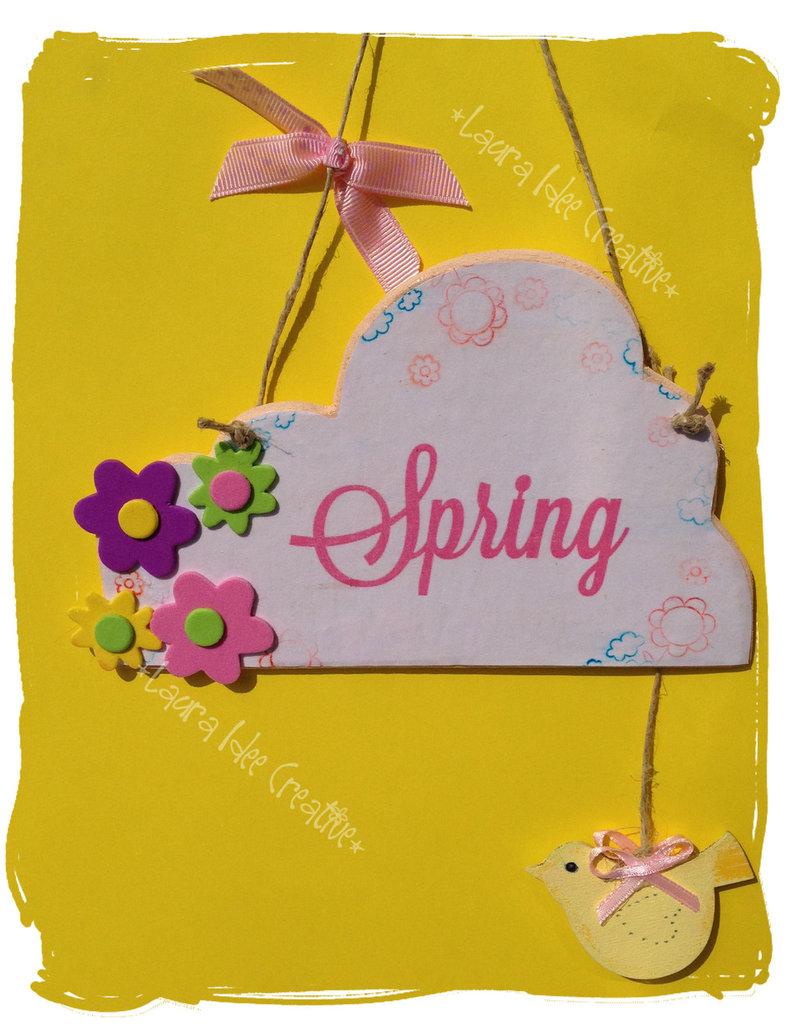 """Targhetta """" Spring"""""""