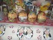 scatoline ovetti in ceramica - LE QUATTRO STAGIONI