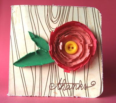 Tarjeta felicitación flor