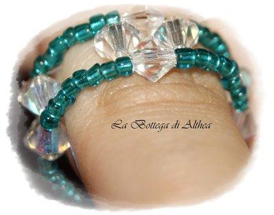 Anellino con cristalli swarovski arcolbaleno