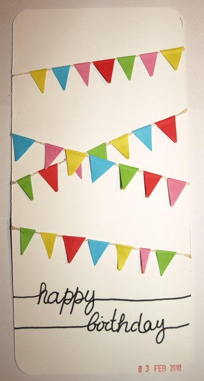Tarjeta de cumpleaños - Banderuelas