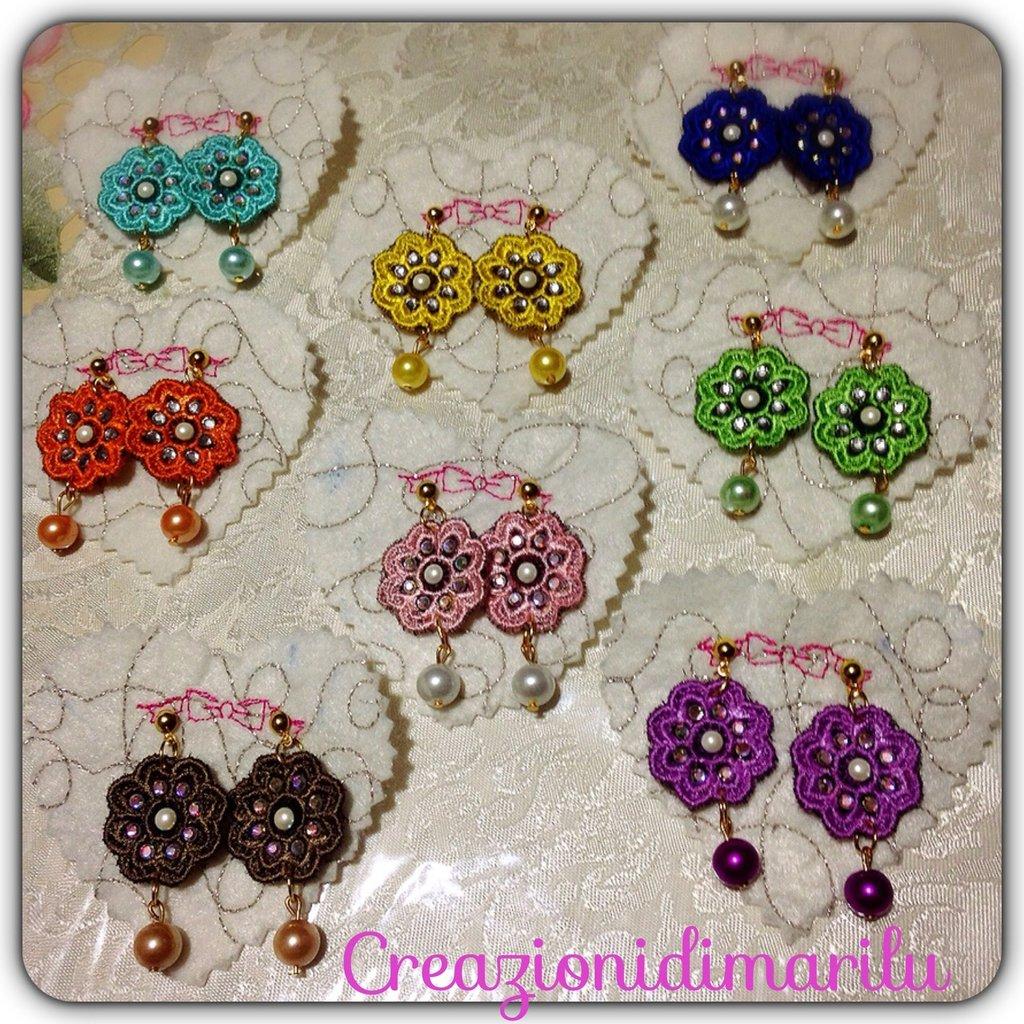 Mini orecchini colori moda