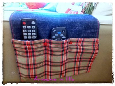 Porta telecomandi tv in jeans