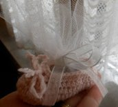 Bomboniere neonato in cotone lavorato a mano all'uncinetto