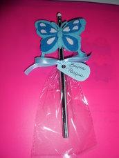 matita con gomma decorazione feltro farfalla azzurra buona pasqua