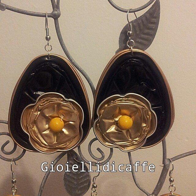 orecchini capsule del the nespresso  e fiore