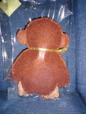 pupazzo scimmia in pannolenci fatta a mano