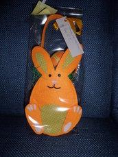 cestino pasqua fatto a mano a forma di coniglio