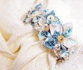Braccialetto bangle azzurro in stile Provence