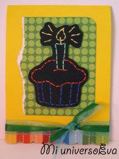 Tarjeta de cumpleaños - Cupcake
