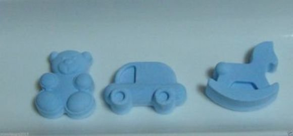 "3 gessetti profumati colorati in polvere ceramica ""nascita"""
