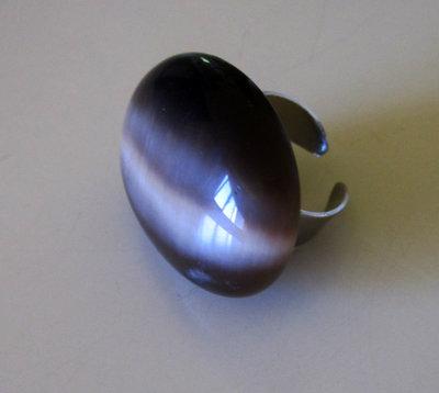 Anello Ovale Marrone