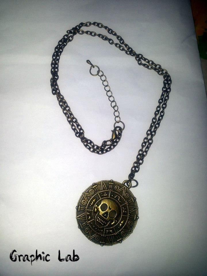 """Collana moneta azteca """"la maledizione della prima luna"""""""